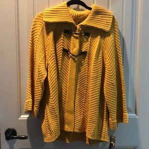 Mustard colored cardigan